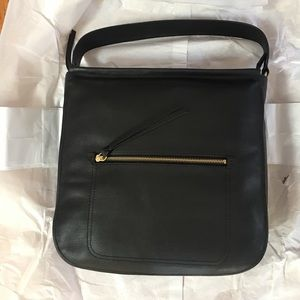 Cole Haan Jade Leather Hobo Bag Black